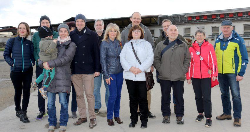 Grüner Besuch in Vachdorf